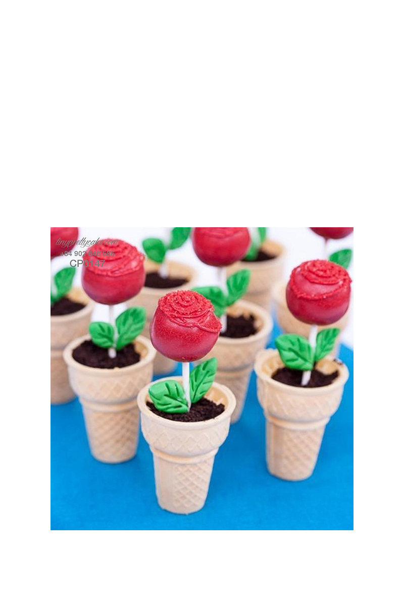 cake pop chậu hoa