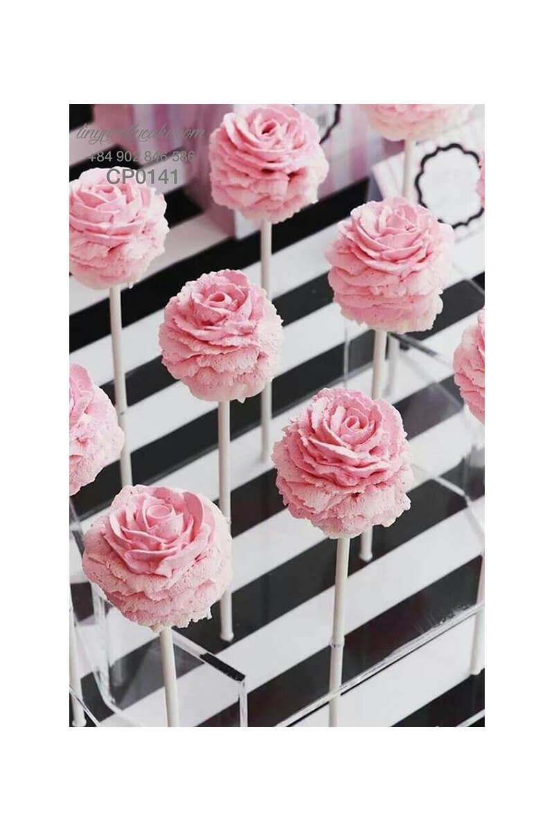 cake pop hoa hồng sang trọng