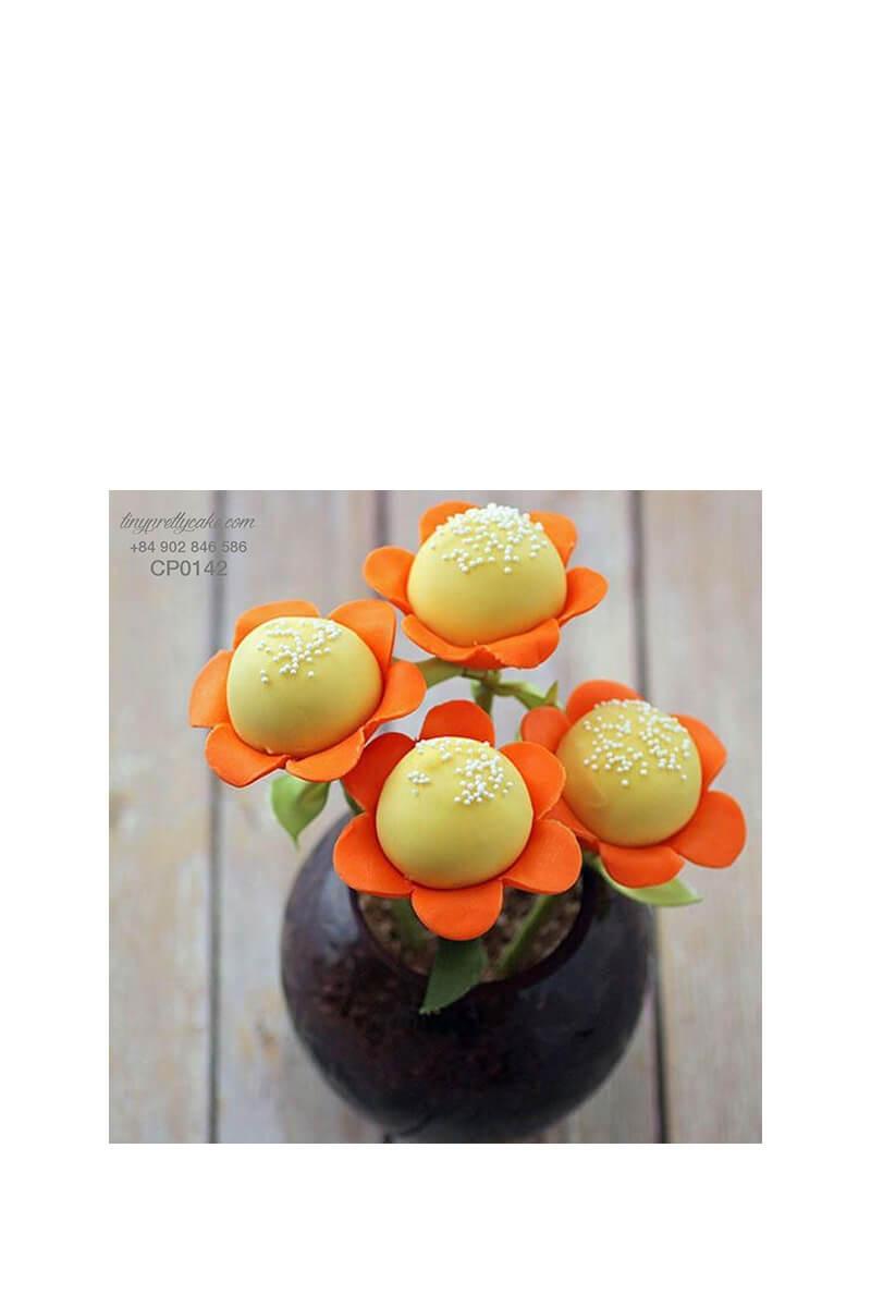 Cake pop hoa hướng dương rực rỡ