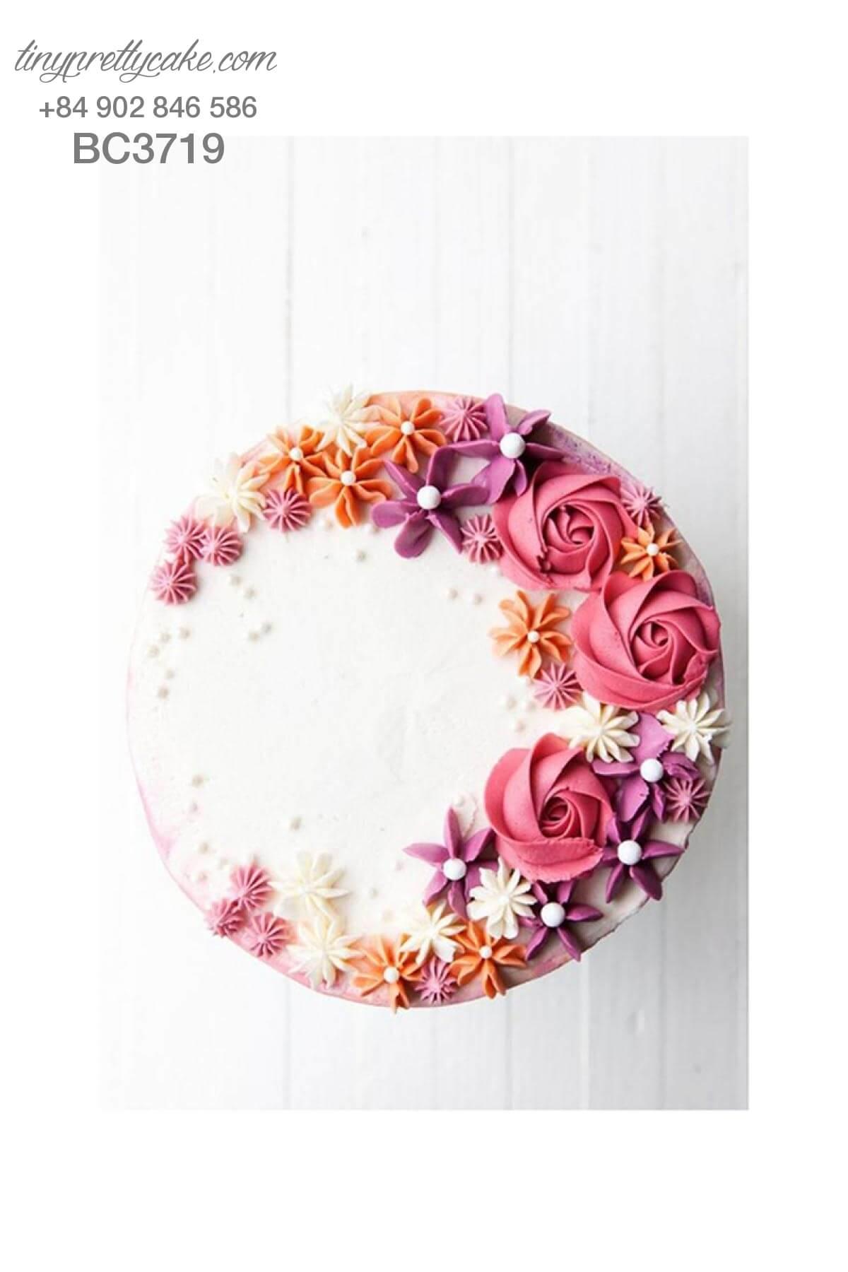 bánh kem hoa hồng lãng mạn
