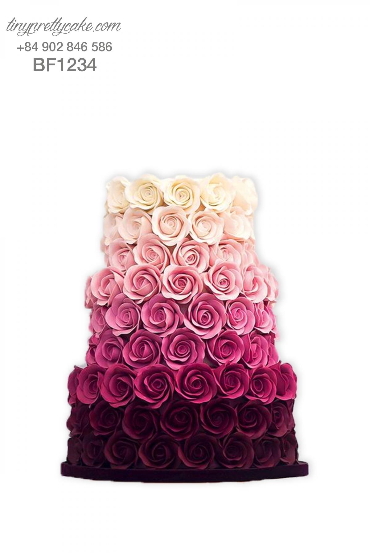 Bánh gato hoa đẹp nhất năm cho phụ nữ (BF1234)