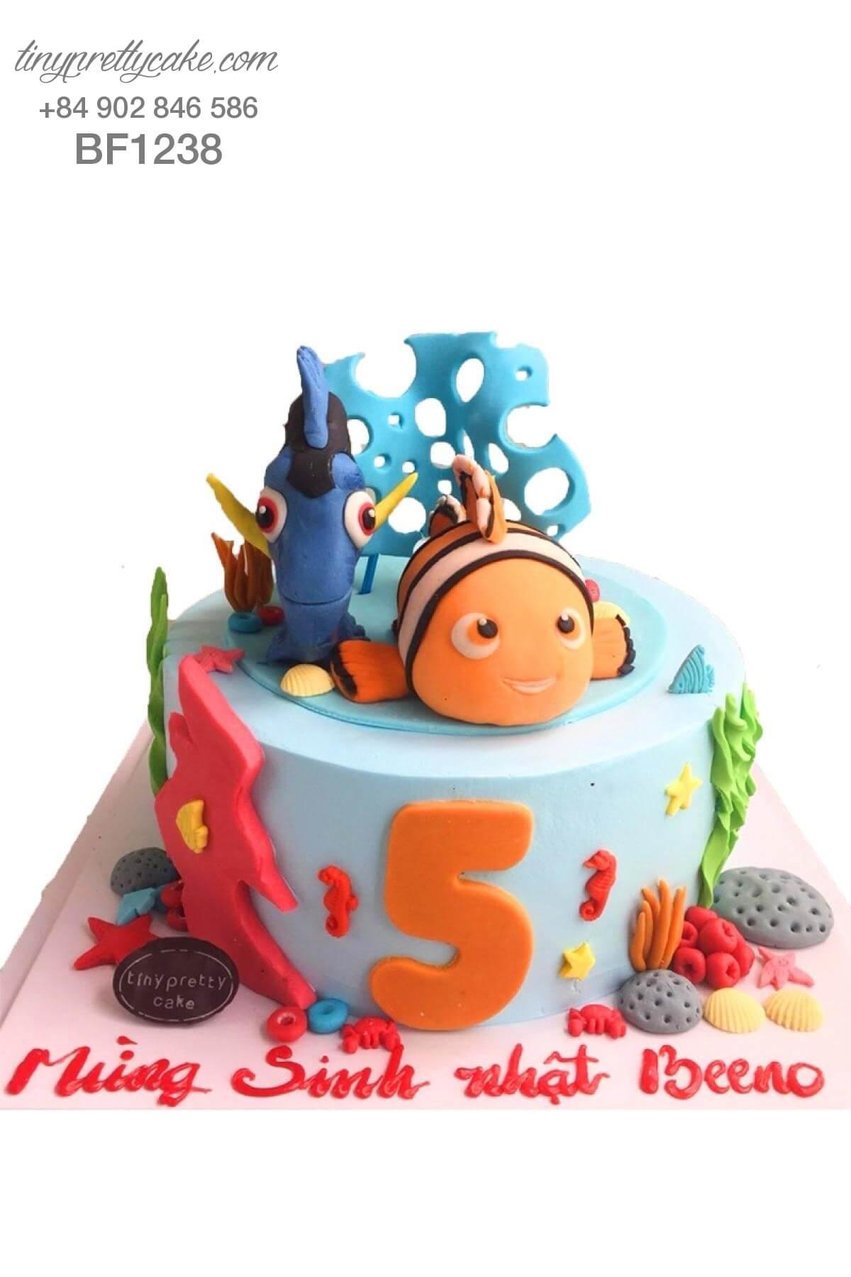 bánh kem sinh nhật Nemo và Dory