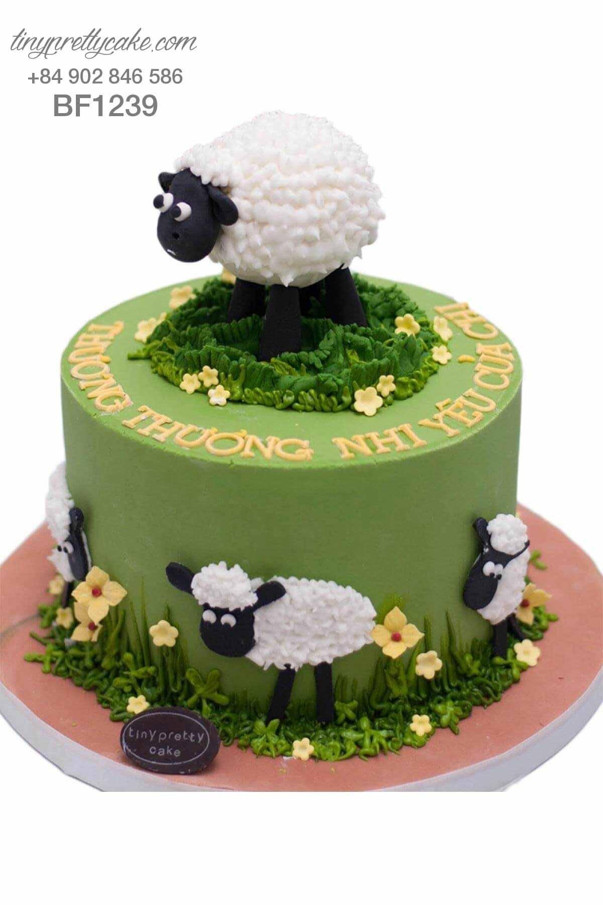 bánh kem hình con cừu