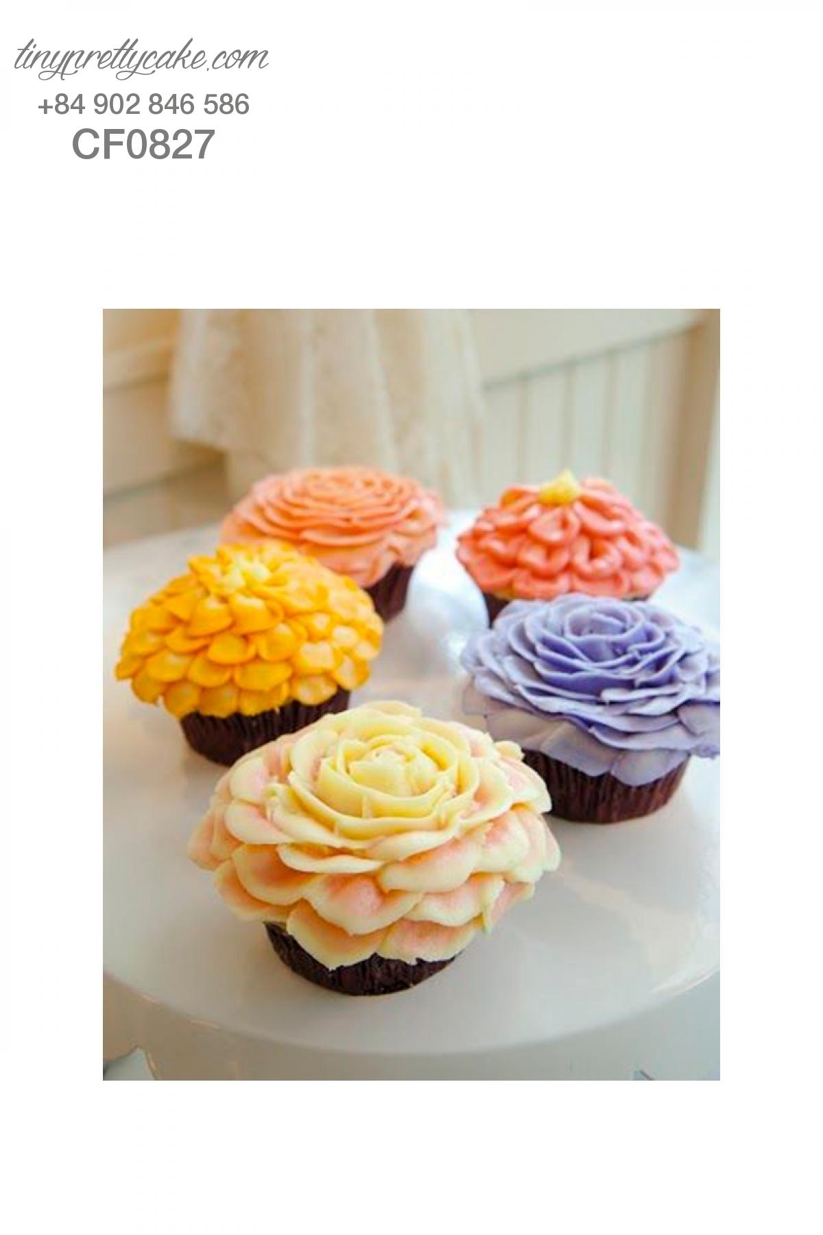 Cupcake hoa nghệ thuật đẹp và ý nghĩa nhất cho phụ nữ (CF0827)