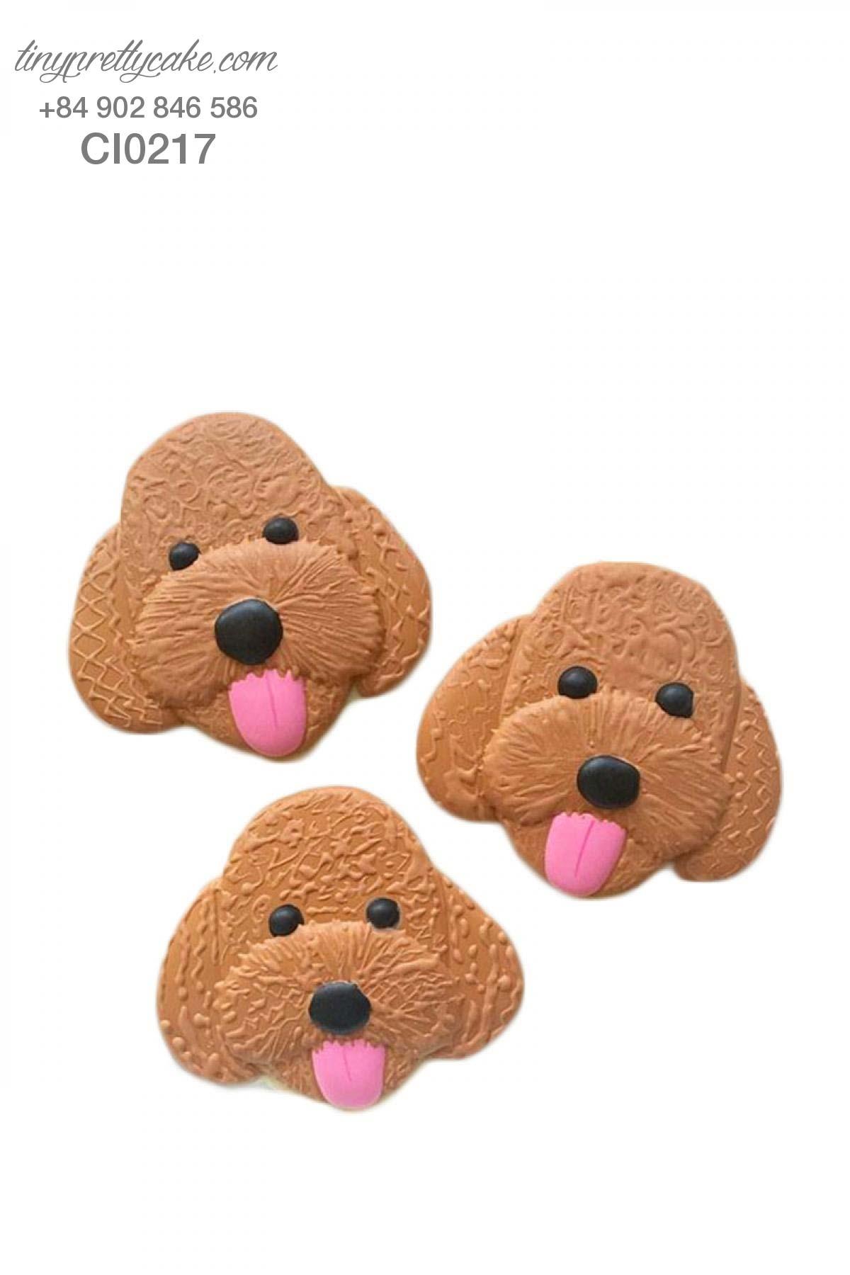 bánh cookie cún con màu nâu