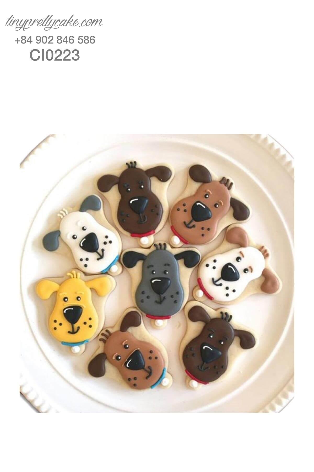 bánh cookie hình con chó