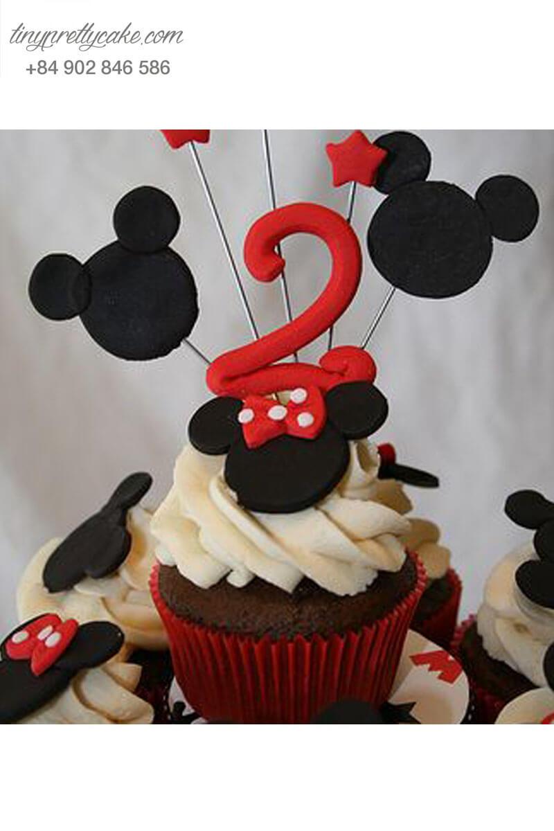 upcake, độc đáo,, fondant, chuột mickey,, bé trai, bé gái, sinh nhật,