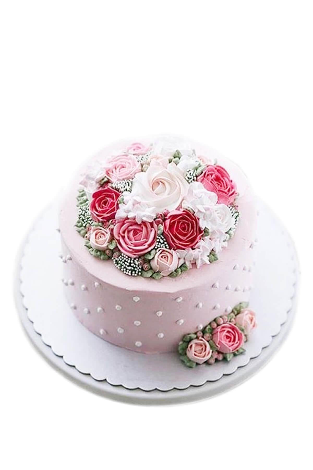 bánh kem hoa tươi sang trọng