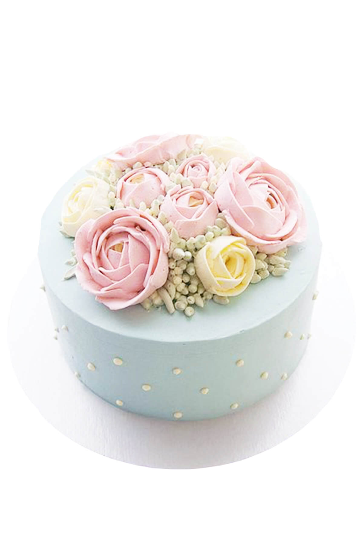 bánh kem hoa màu pastel