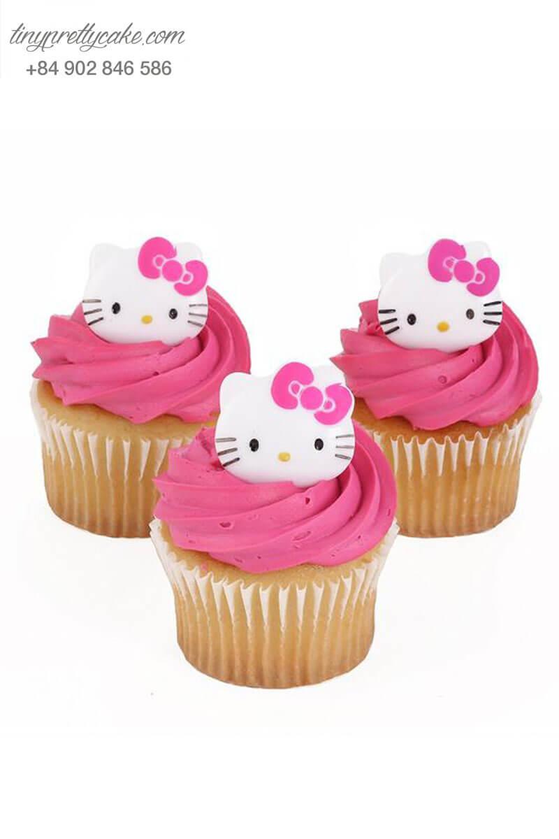 Bánh Cupcake Hello kiity đáng yêu dành tặng sinh nhật các bé gái.
