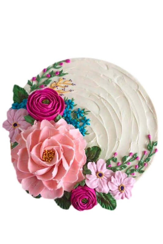 bánh sinh nhật vườn hoa rực rỡ sắc màu