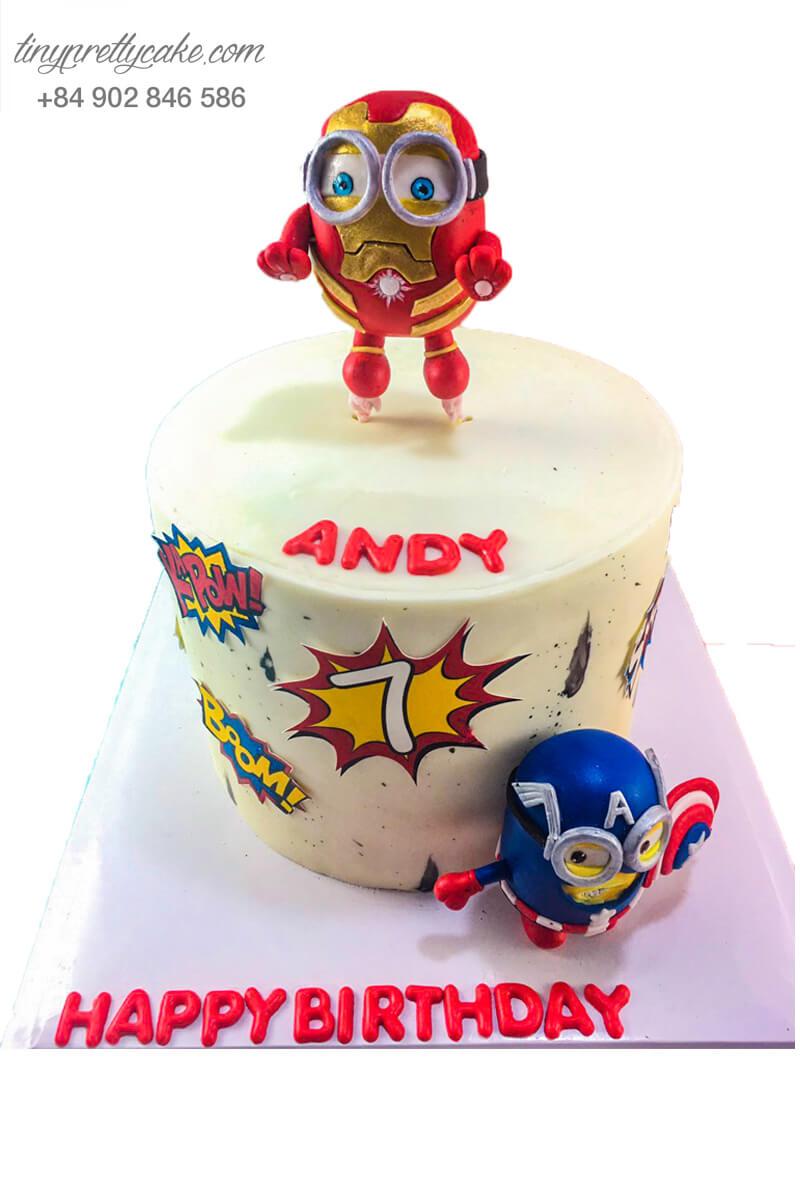 bánh sinh nhật 2 tầng Minion