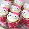 Bánh Cupcake Hello Kitty mộng mơ dành tặng sinh nhật các bé gái