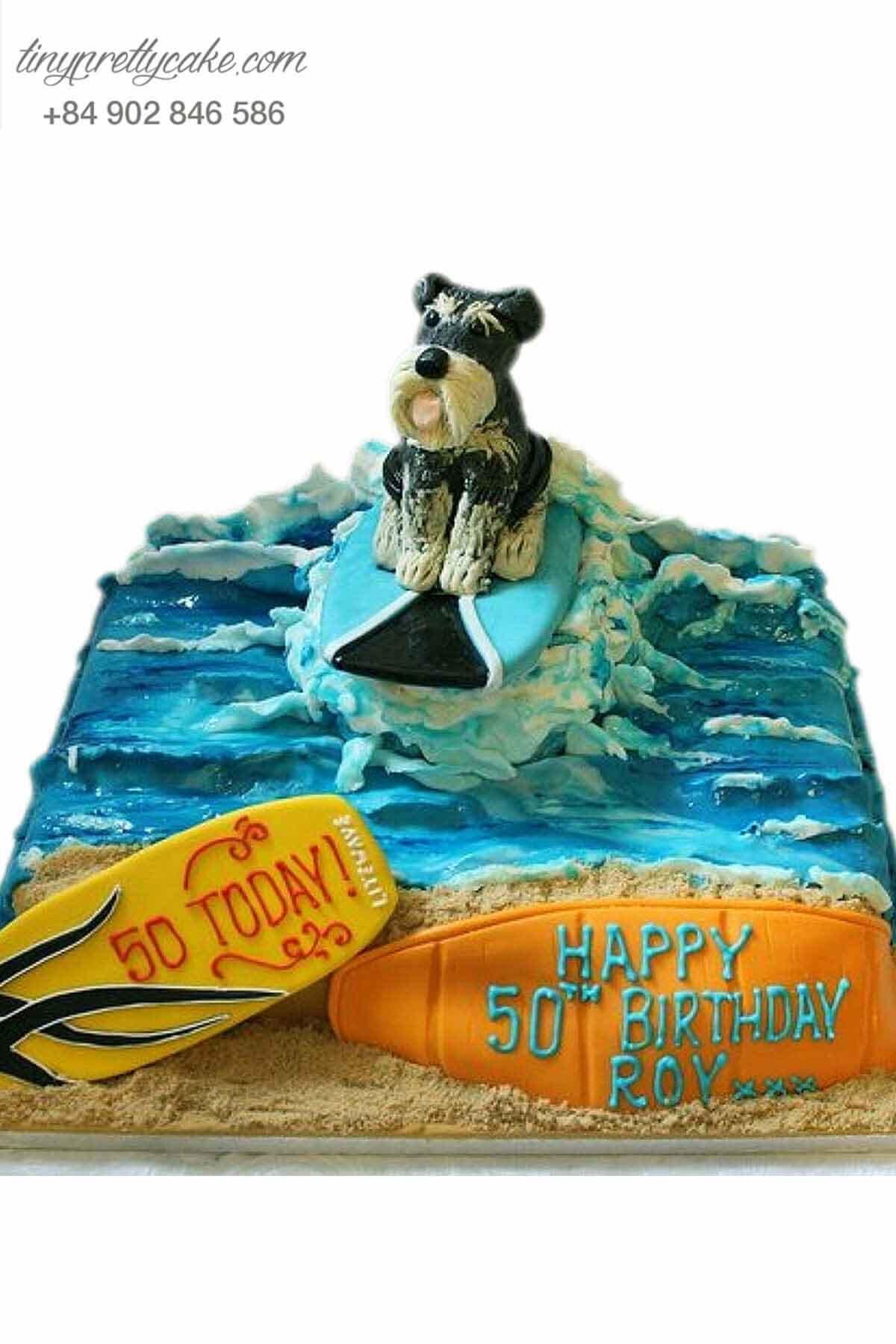 Bánh sinh nhật hình chó lông xù