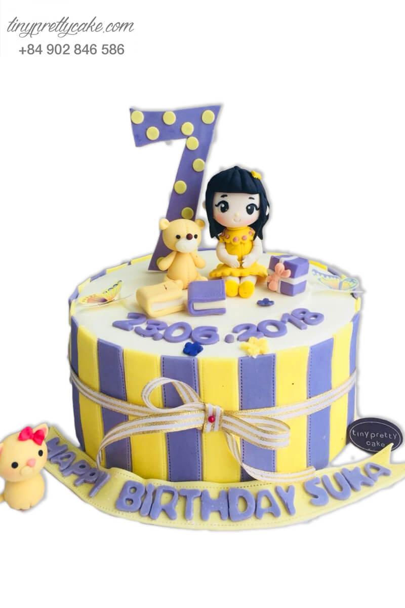 bánh sinh nhật tặng bé gái 7 tuổi