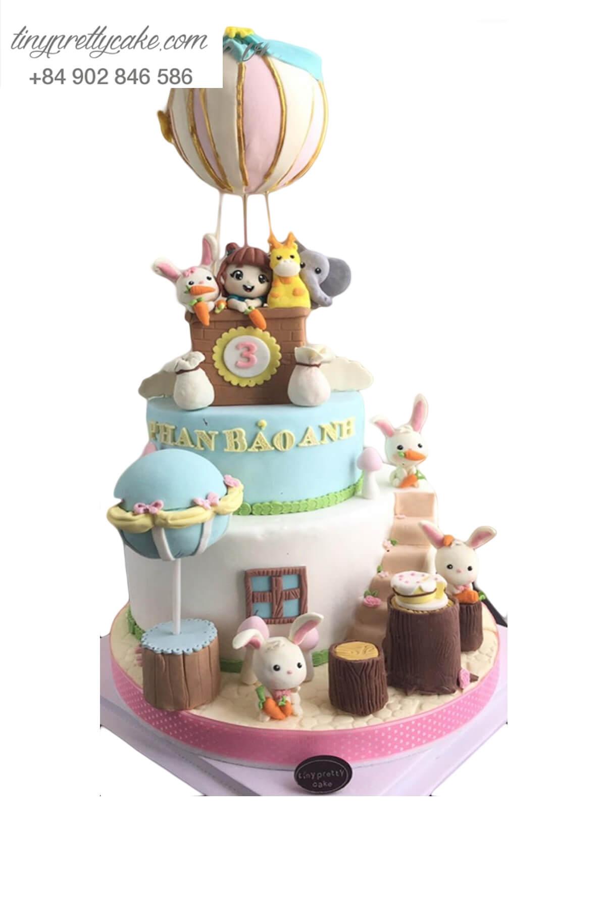 Bánh gato sinh nhật khinh khí cầu