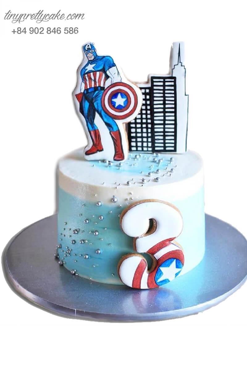 bánh sinh nhật Captain America