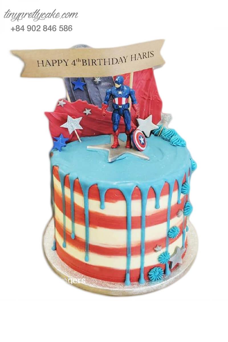 bánh fondant sinh nhật siêu anh hùng