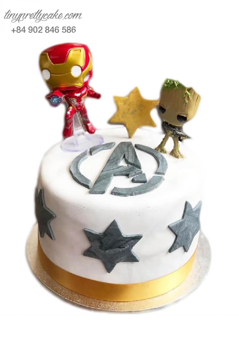 bánh sinh nhật siêu nhân người sắt