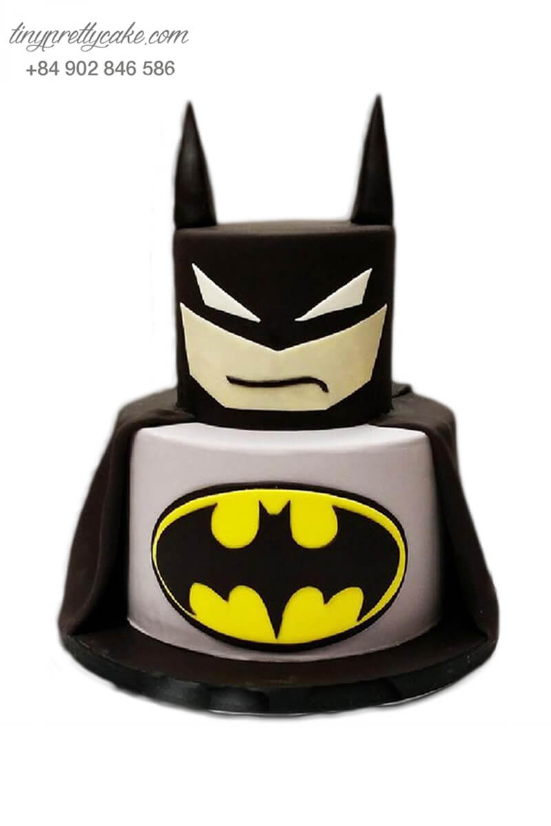 bánh kem 2 tầng Batman