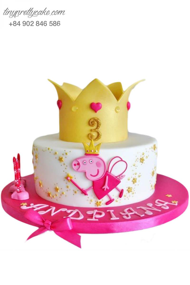 bánh sinh nhật công chúa heo peppa