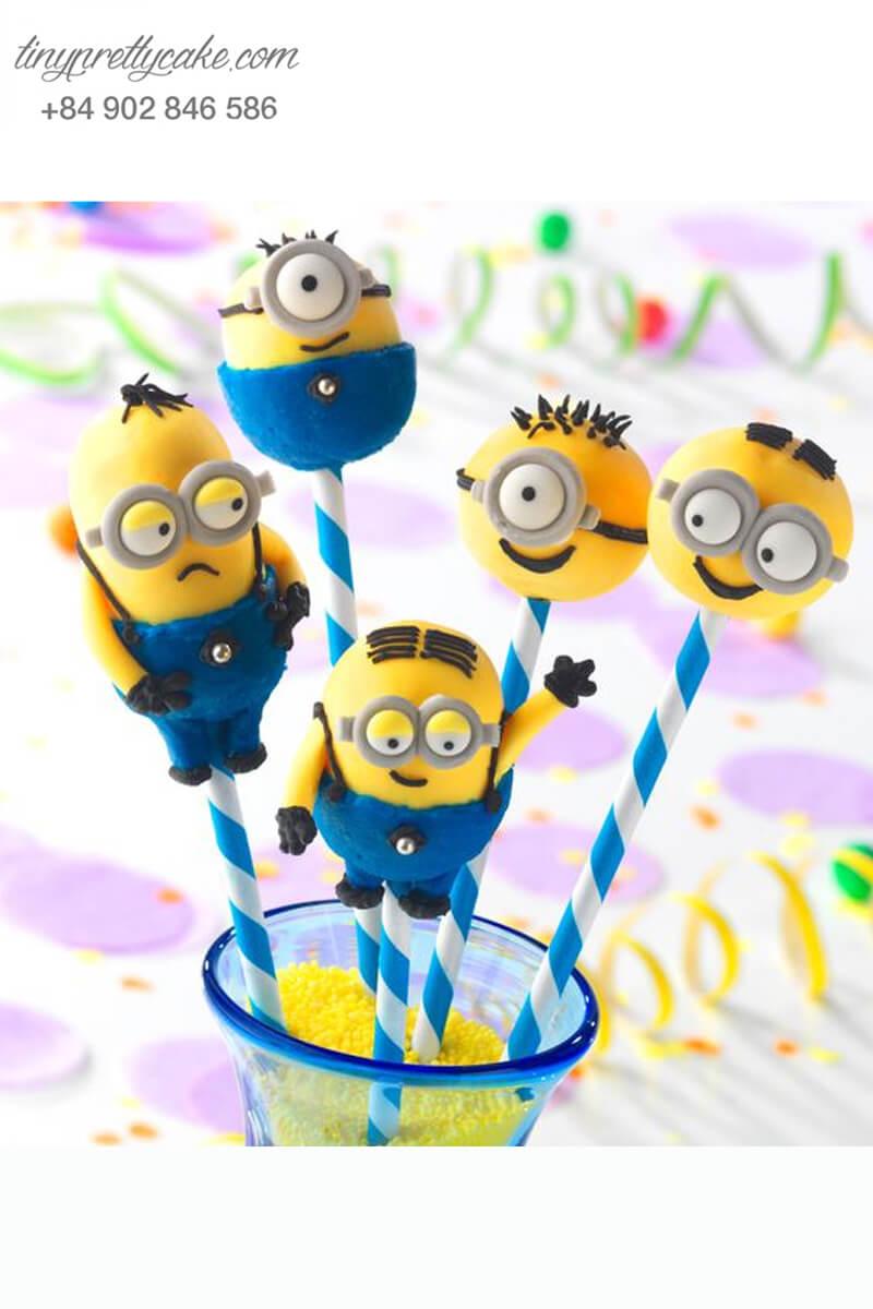 bánh cake pop hình Minion