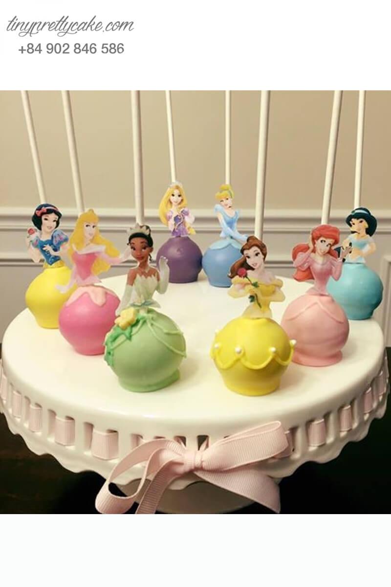 cake pop hình nàng công chúa Disney