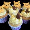 Set 11 cupcake gấu Pooh và chị Ong vàng mừng sinh nhật cho các bé ngoan