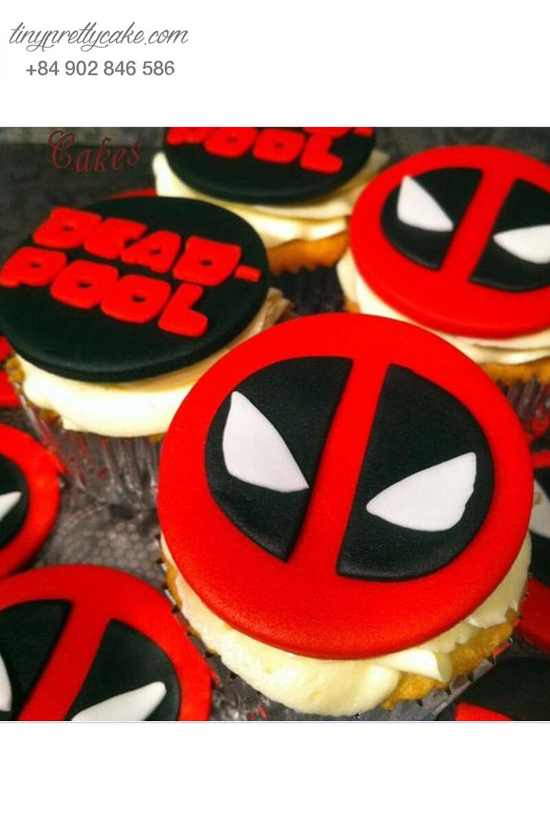 Set 4 cupcake Deadpool siêu hot mừng sinh nhật các bé