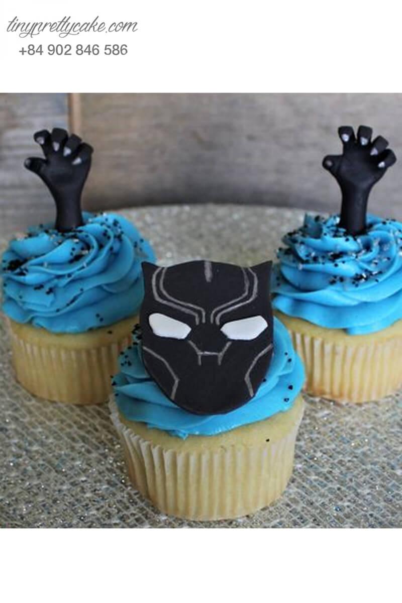 Set 3 cupcake Blackpanther đầy ma mị mừng sinh nhật các bé