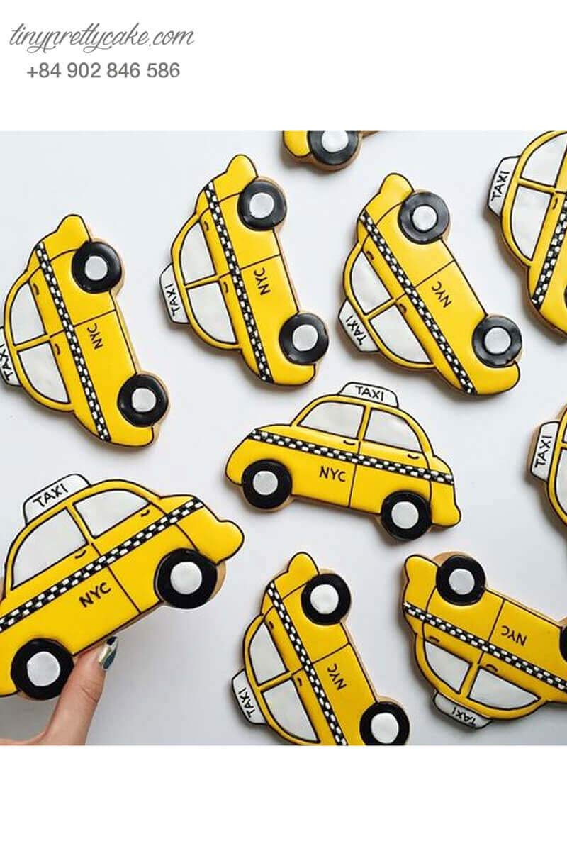 Bánh cookie xe taxi