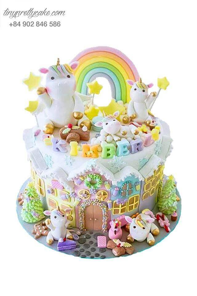 bánh sinh nhật Unicorn 1 sừng