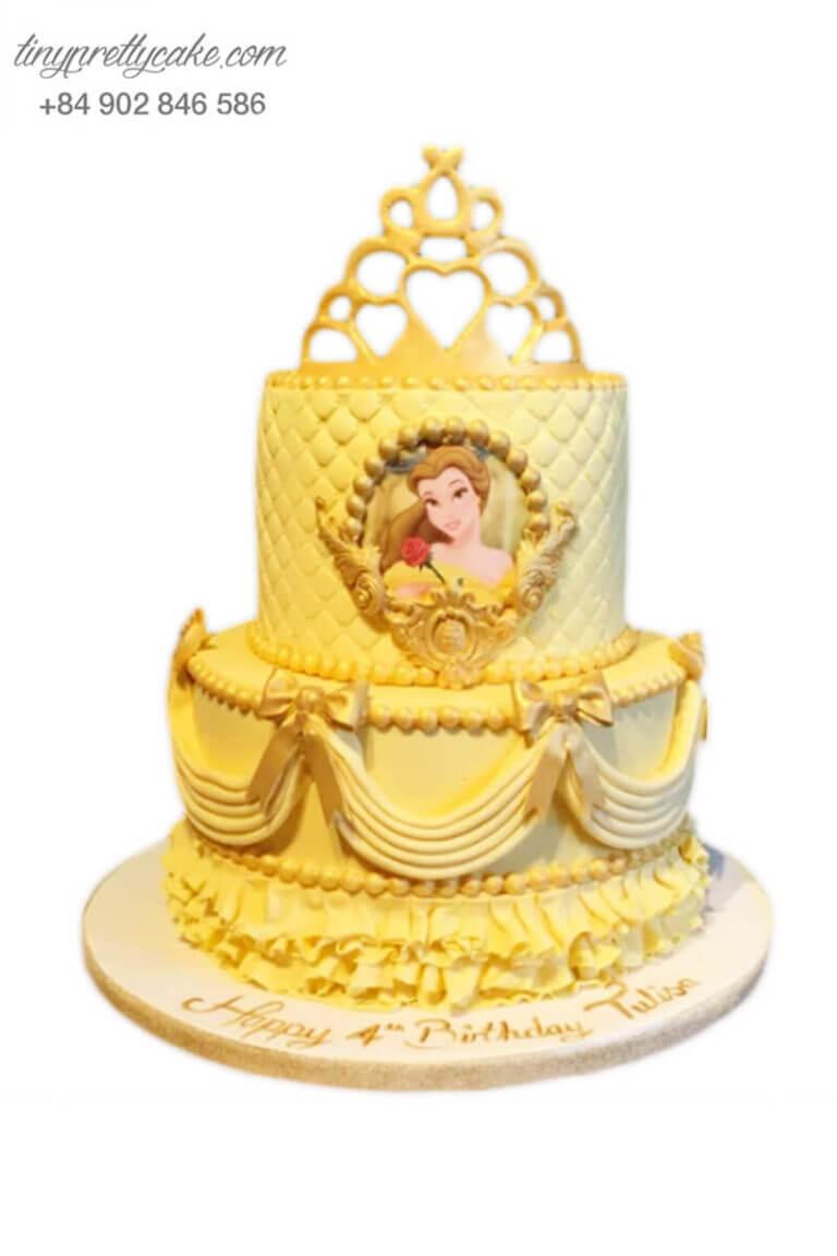 bánh gato sinh nhật người đẹp Belle
