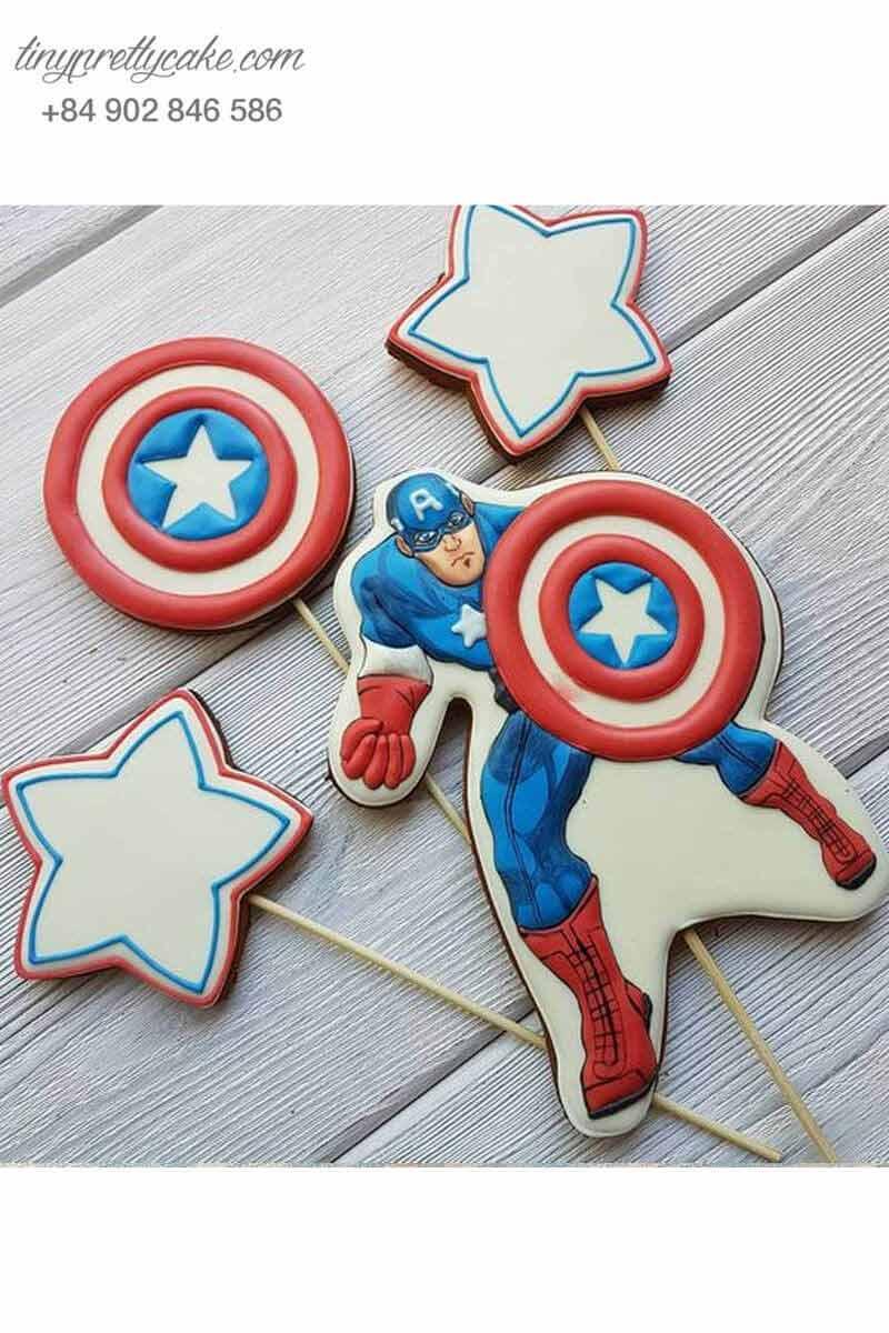 Bánh cookie Captain America mạnh mẽ