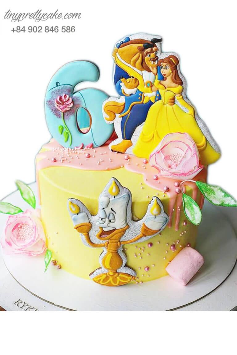 bánh sinh nhật người đẹp Belle và quái vật