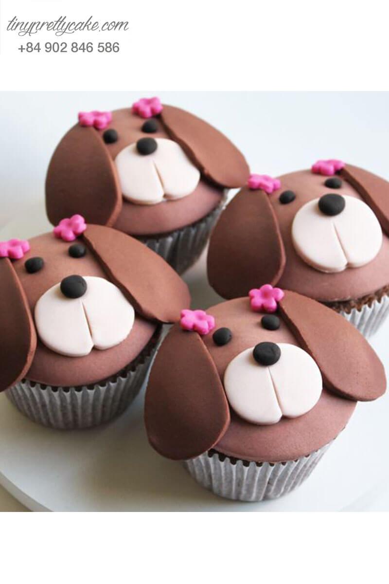 Bánh cupcake chú chó đáng yêu