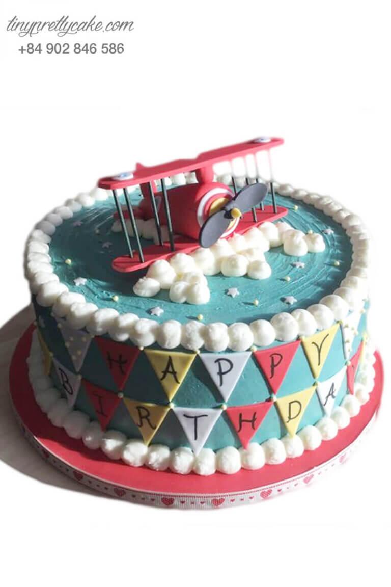bánh sinh nhật hình máy bay trực thăng