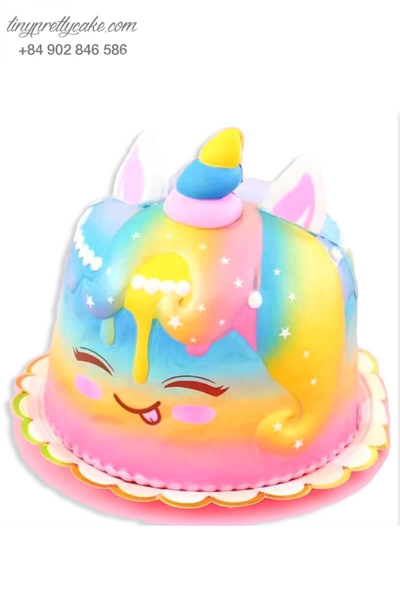 bánh sinh nhật Unicorn cầu vồng độc lạ