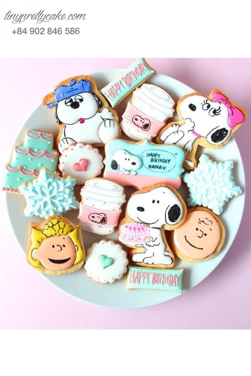bánh cookie chó Snoopy