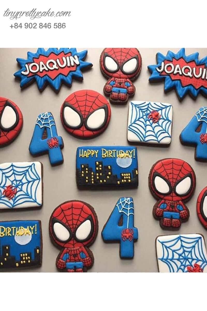 Bánh cookie người nhện Spiderman