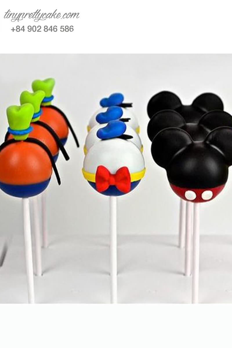 Cakepop hình Mickey và Donald