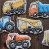 bánh quy vẽ hình xe đồ chơi