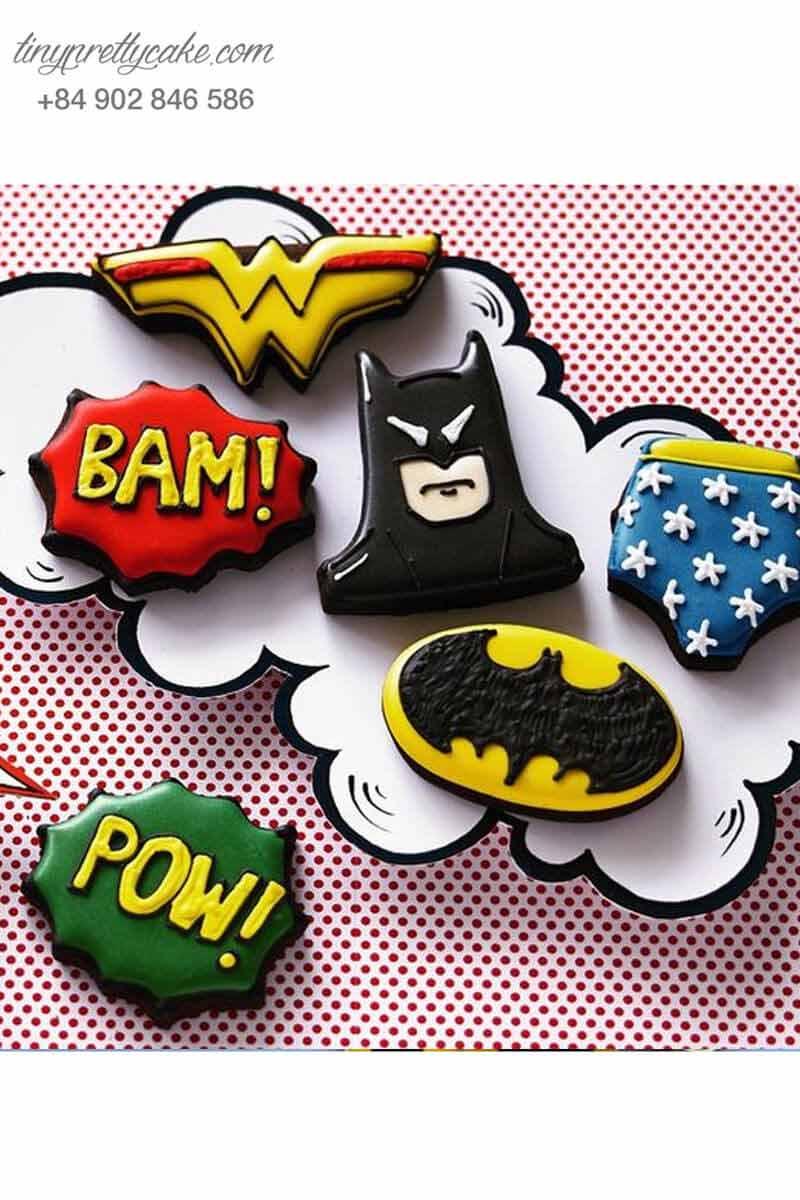 Bộ cookies sinh nhật siêu nhân Batman