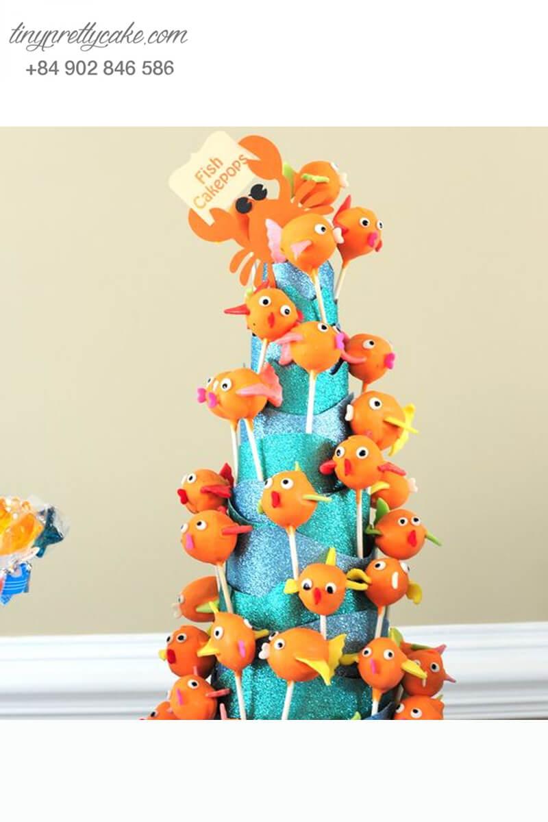 Bánh cake pop hình cá Nemo