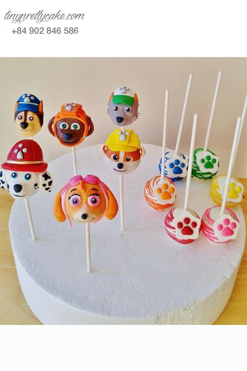 Bánh cakepop hình chó Paw Patrol