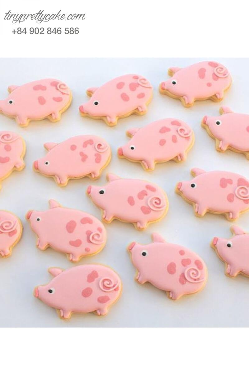 bánh quy sinh nhật hình chú heo