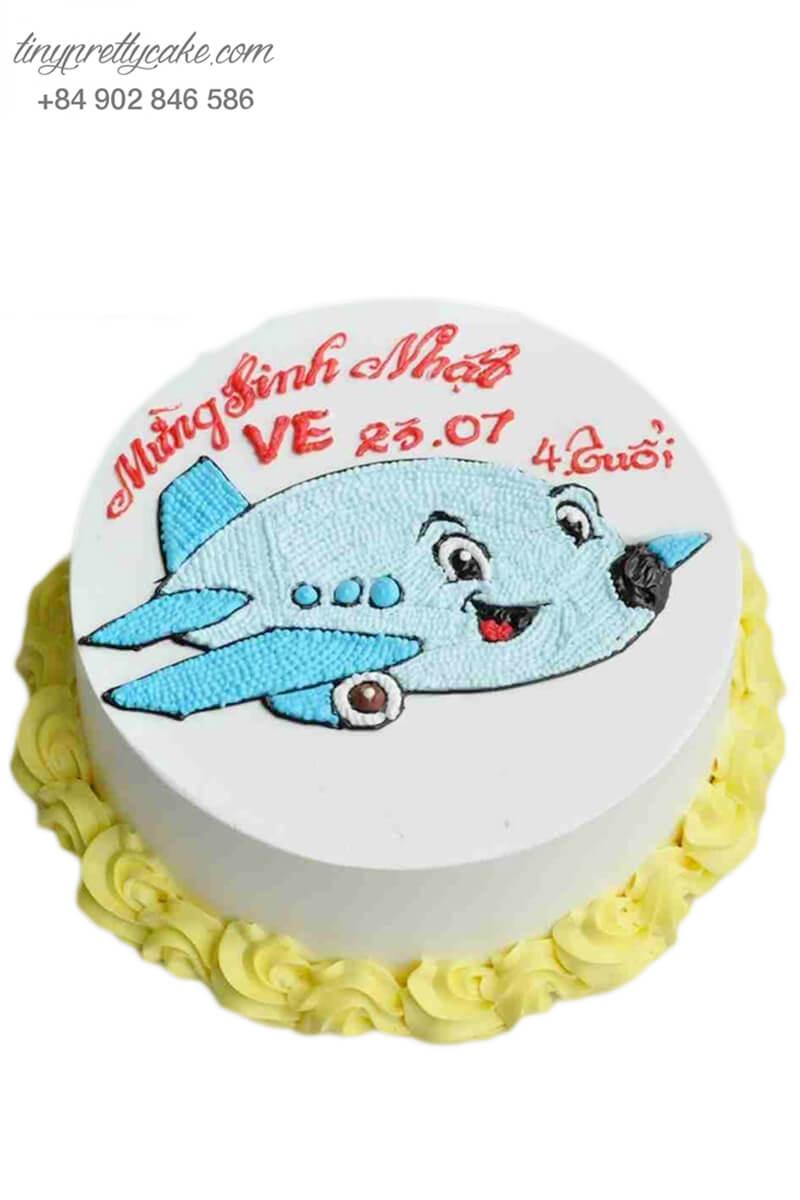 Bánh kem vẽ hình máy bay