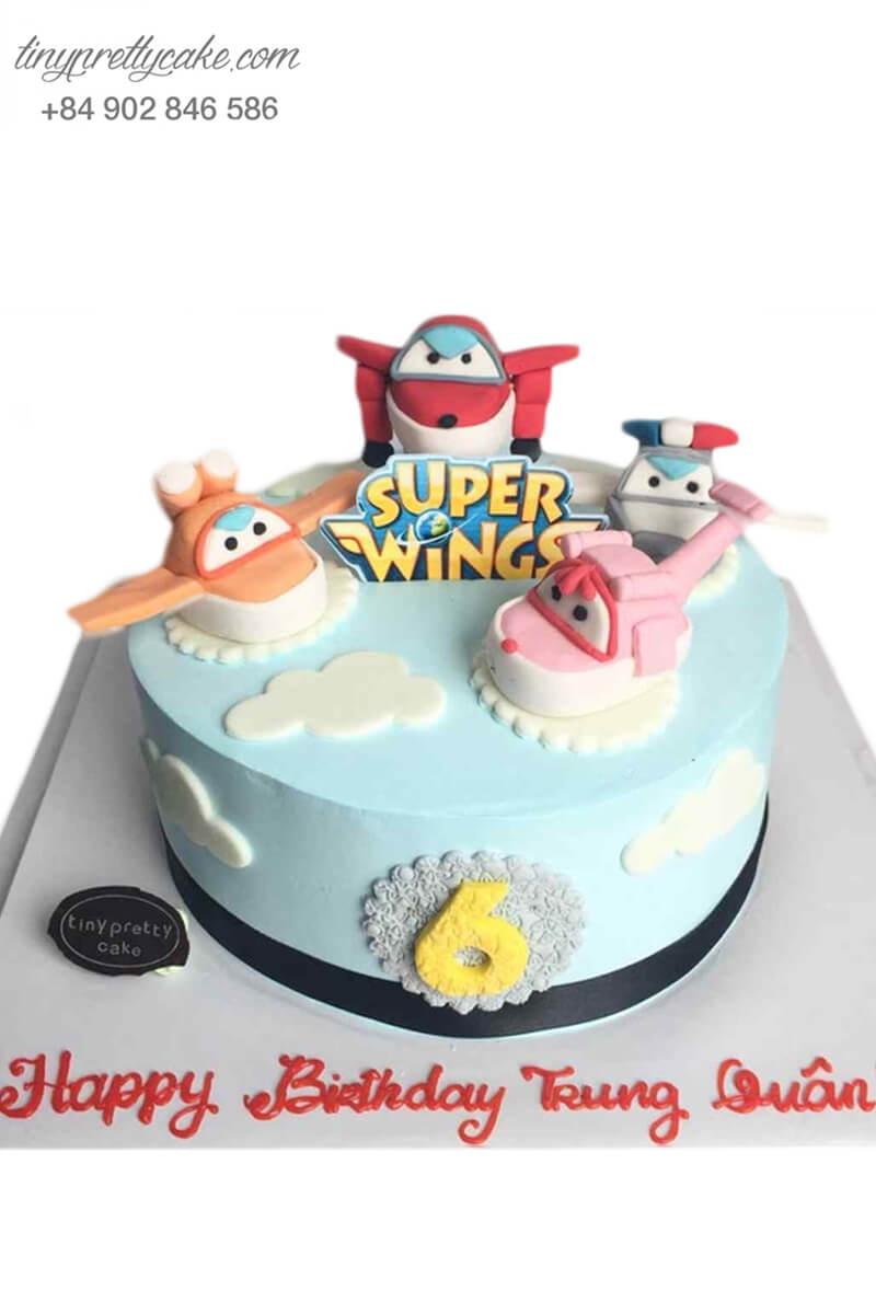 bánh gato sinh nhật chủ đề máy bay cho bé trai