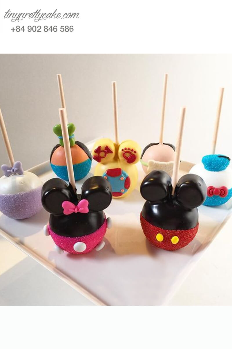 Bánh cake pop hình nhân vật Mickey