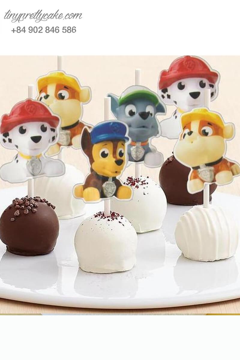 Bánh cakepop hình chó ngộ nghĩnh